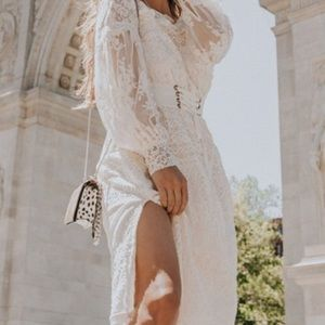 New Dawn Lace Midi Dress
